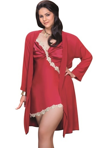 Naymphe Kadın Fantezi Gecelik Kırmızı